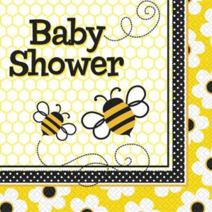 Bumble Bee Baby Shower Party Serviettes