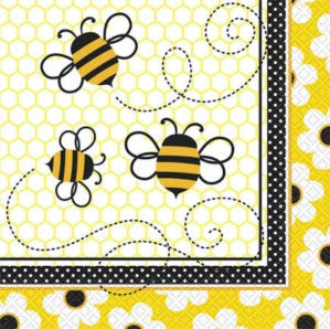 Bumble Bee Party Serviettes