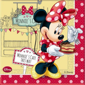 Disney Minnie Cafe Party Serviettes