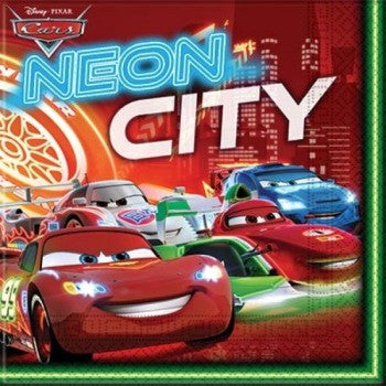 Disney Cars Neon Party Serviettes