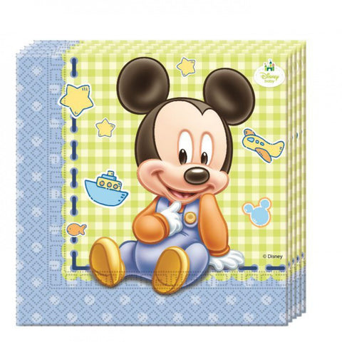 Baby Mickey Party Serviettes 20ct