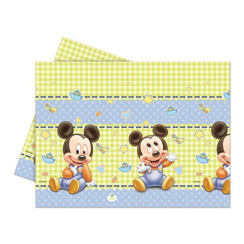Baby Mickey Plastic Tablecloth