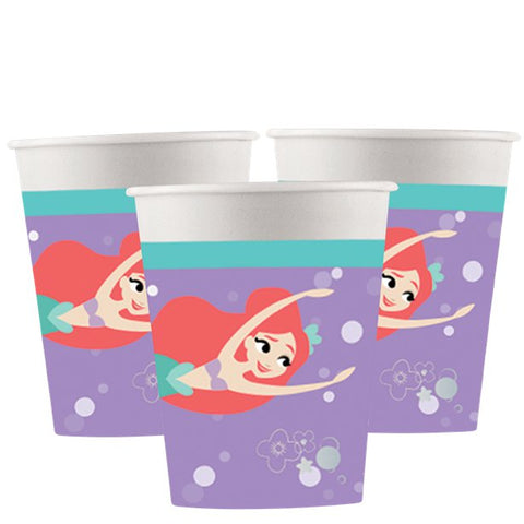 Ariel Under The Sea Paper Cups 8ct