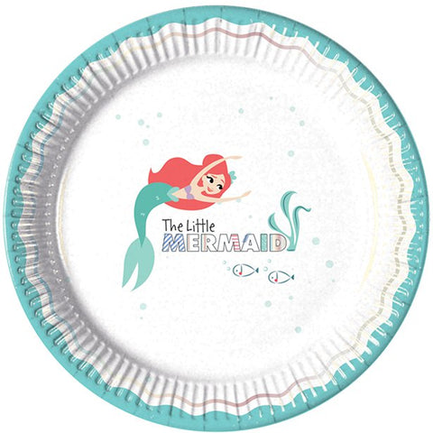 Ariel Under The Sea Paper Plates 8ct