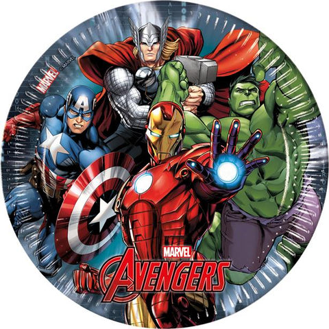 Avengers Party Paper Plates 8ct