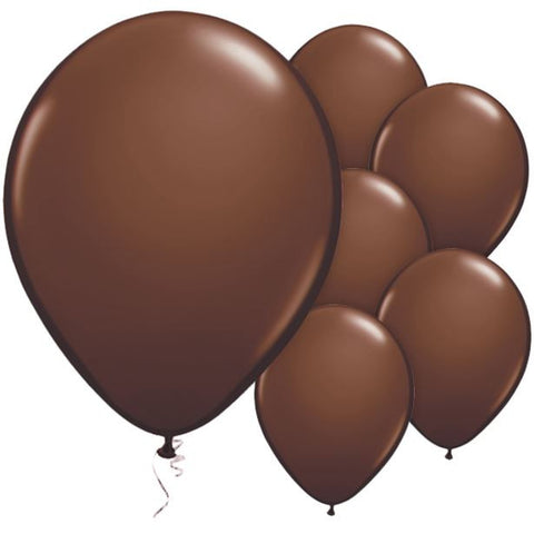 "Latex 11"" Chocolate Brown Balloon 25ct"