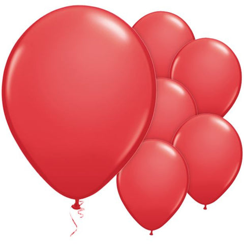 "Latex 11"" Red Balloons 25ct"