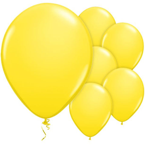 "Latex 11"" Yellow Balloons 10ct"