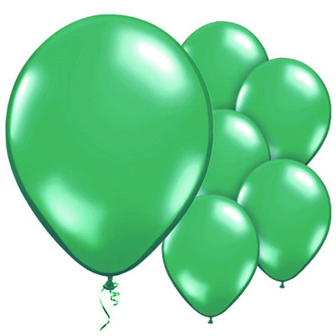"Latex 11"" Metallic Green Balloons 10ct"