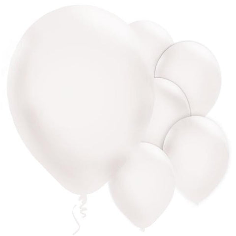 "Latex 11"" Pearl White Balloons 10ct"