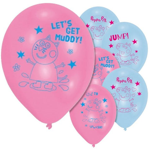 "Latex 11"" Peppa Pig Balloons 6ct"