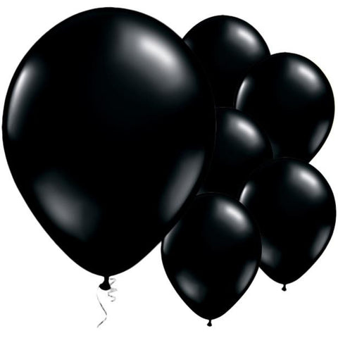 "Latex 11"" Onyx Black Balloons 25ct"