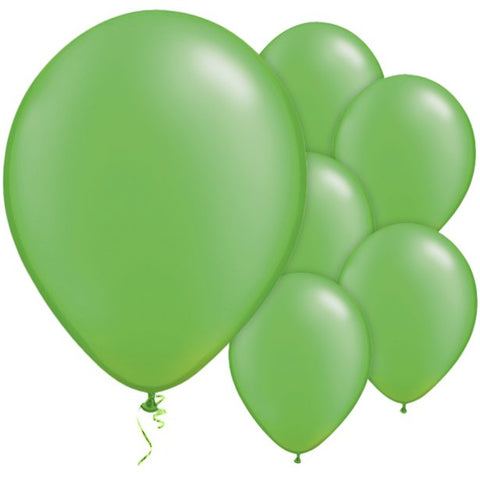 "Latex 11"" Lime Green Pearl Balloons 25ct"