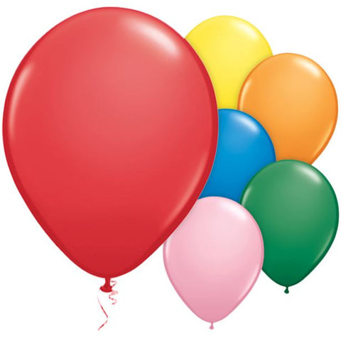 "Latex 11"" Plain Assorted Balloons 25ct"