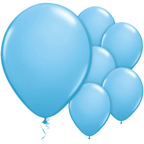"Latex 11"" Pale Blue Balloons 25ct"