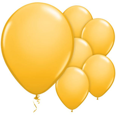 "Latex 11"" Goldenrod Balloons 25ct"