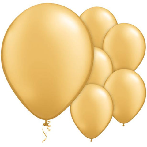 "Latex 11"" Metallic Gold Balloons 25ct"