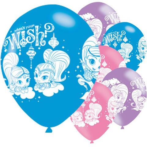 11 inch Shimmer & Shine Latex Balloons 6ct