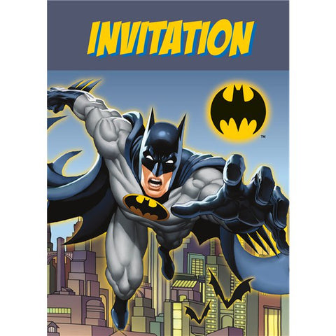 Batman Party Invitations 8ct