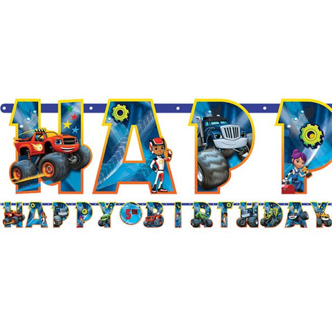 Blaze and the Monster Machines Letter Banner