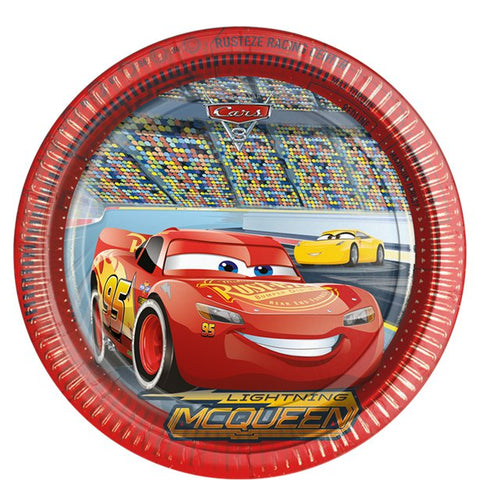 Disney Cars 3 Party Paper Plates 8ct