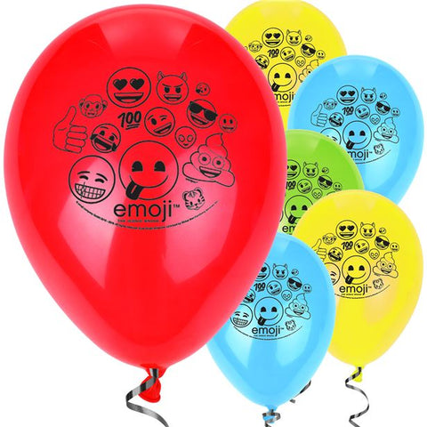Emoji Latex Balloons 8ct