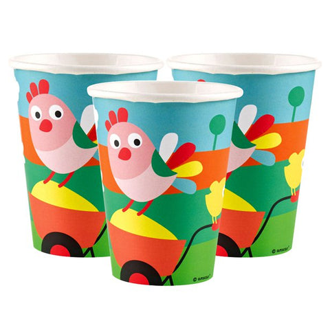 Farm Fun Paper Cups 8ct