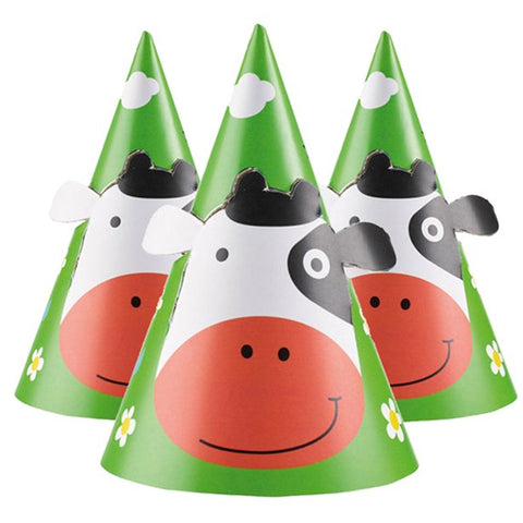 Farm fun Party Hats 8ct