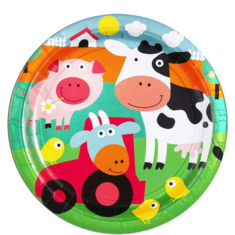 Farm Fun Party Paper Plates 8ct