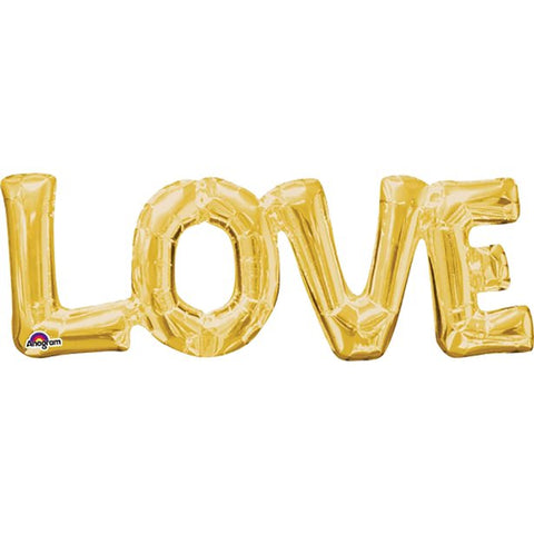 "Love Gold 9"" Foil Phrase Balloon"