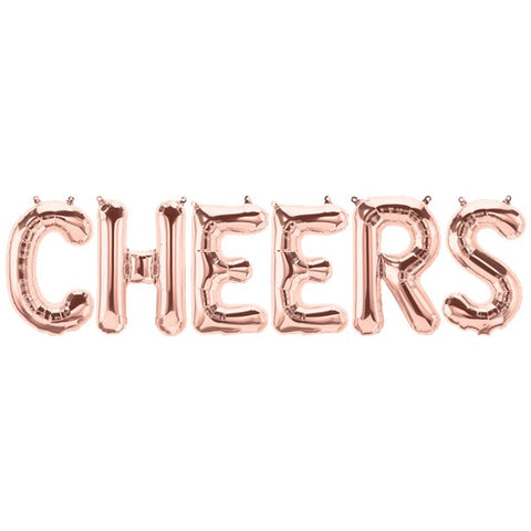 "'CHEERS' Silver 16"" Foil Phrase Balloon"