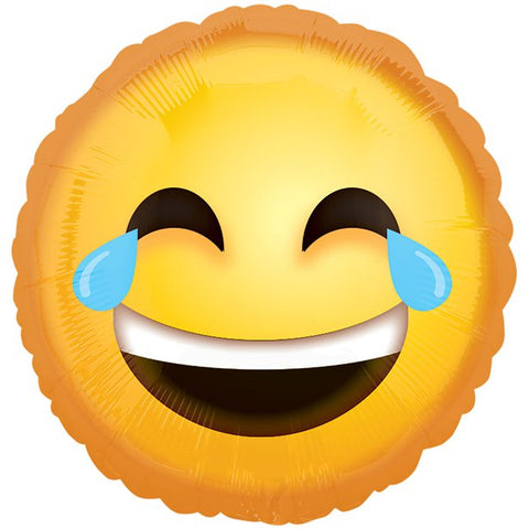 "Emoji Crying Laughing 18"" Foil Balloon"