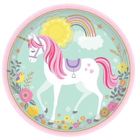 Magical Unicorn Party Paper Plates 8ct