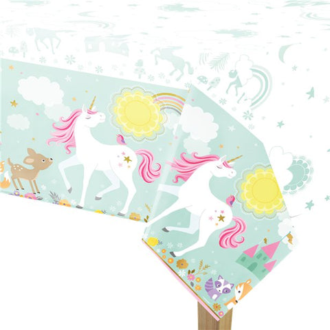 Magical Unicorn Plastic Tablecover - 1.2m x 1.8m