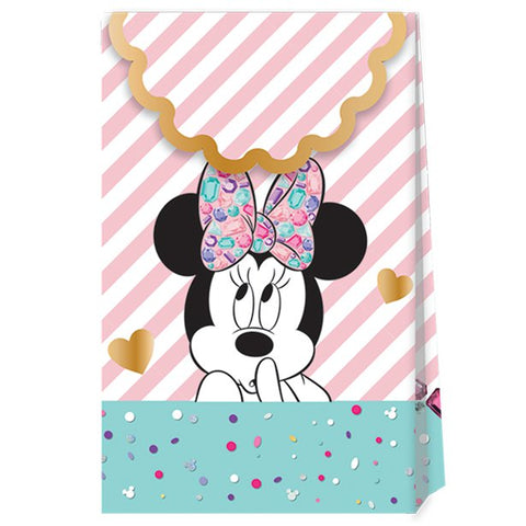 Disney Minnie Party Gem Paper Party Bags 6ct