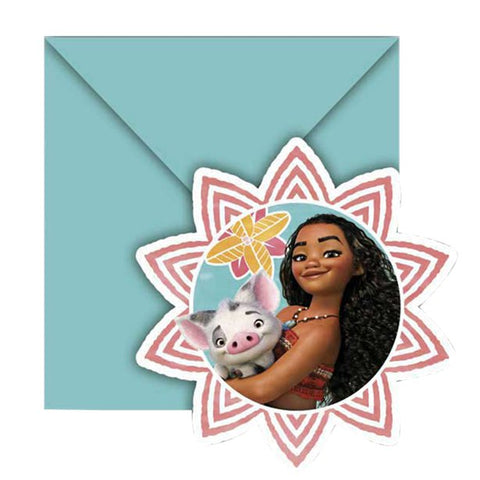 Disney Moana Invitations 6ct