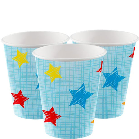 One is Fun Boy Paper Party Cups 8ct