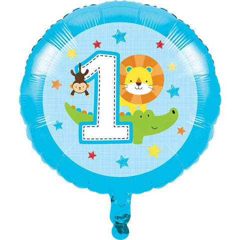 "One Is Fun Boy 17"" Foil Balloon"