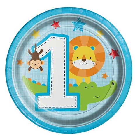 One Is Fun Boy Dessert Paper Plates 8ct