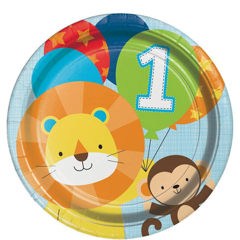 One Is Fun Boy Paper Plates 8ct