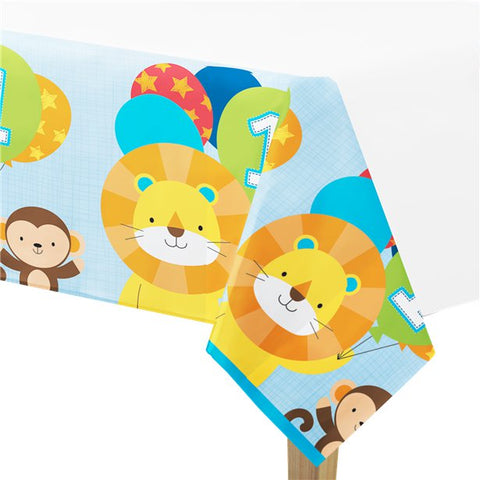 One is Fun Boy Plastic Tablecover - 1.4m x 2.6m