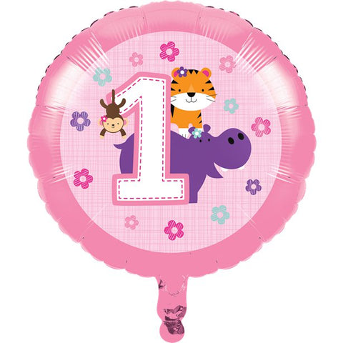 "One Is Fun Girl 17"" Foil Balloon"