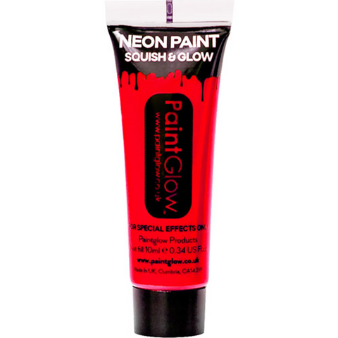 UV Neon Red Face Paint Tube - 10ml