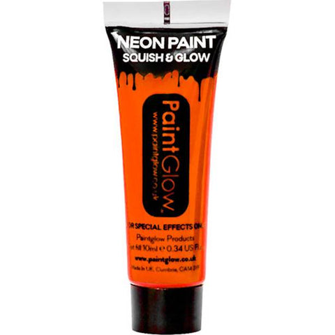 UV Neon Orange Face Paint Tube - 10ml
