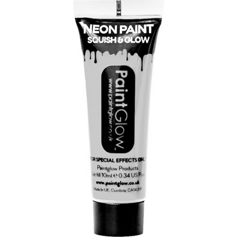 UV Neon White Face Paint Tube - 10ml
