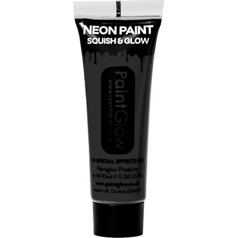 UV Neon Black Face Paint Tube - 10ml