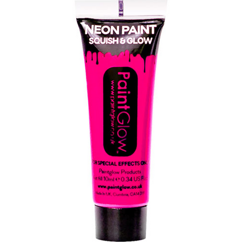 UV Neon Pink Face Paint Tube - 10ml