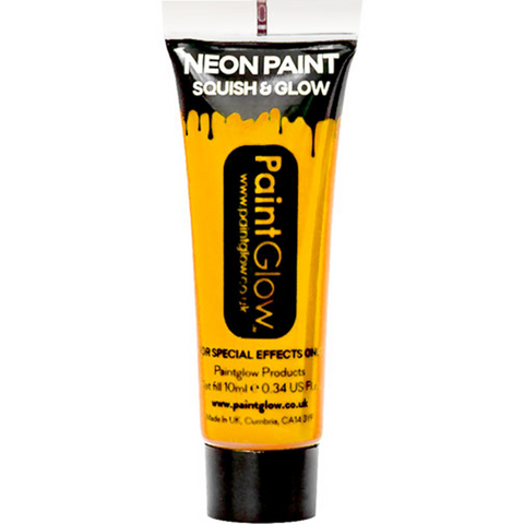 UV Neon Yellow Face Paint Tube - 10ml
