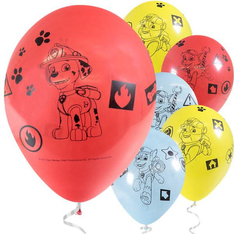 Paw Patrol Latex Balloons 6ct