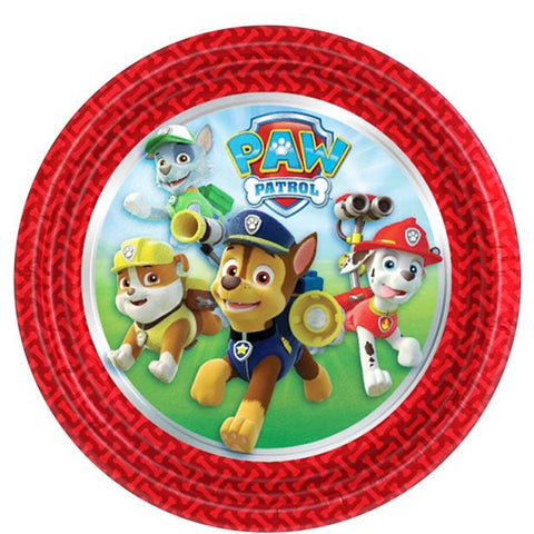 Paw Patrol Party Paper Plates 8ct